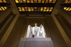 Lincoln pomnik przy nocą, washington dc zdjęcie royalty free