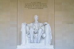Lincoln pomnik w Krajowym centrum handlowym, washington dc obraz royalty free