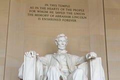Lincoln pomnik w Waszyngton Zdjęcia Royalty Free