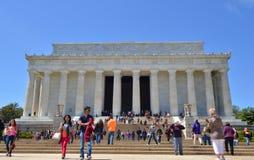 Lincoln pomnik, washington dc zdjęcie stock