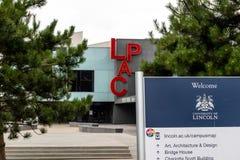 Lincoln, Regno Unito - 07/21/2018: Il LPAC sul Universit fotografia stock libera da diritti