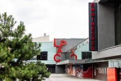 Lincoln, Regno Unito - 07/21/2018: La tettoia del motore e di LPAC fotografia stock