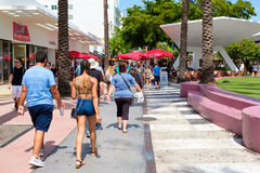 Lincoln Road, a famous tourist destination in Miami Beach Stock Images