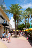 Lincoln Road, a famous tourist destination in Miami Beach Stock Image