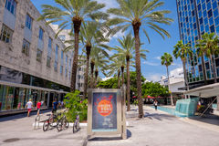 Lincoln Road Mall stock image