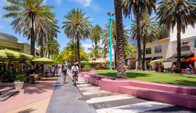 Lincoln Road Mall Royalty Free Stock Photo