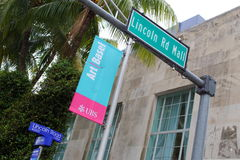 Lincoln Road Miami Beach Art Basel Signs Royalty Free Stock Images