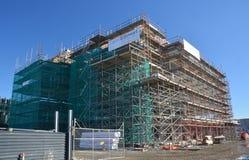 Lincoln Road New Office Block-Sonderkommando, Christchurch-Wiederaufbauen. Lizenzfreie Stockfotografie
