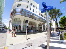 The Lincoln Road shopping boulevard in Miami Beach Stock Image