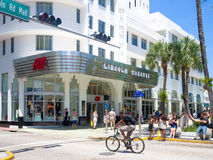 Lincoln Road, a shopping boulevard in Miami Beach stock photo