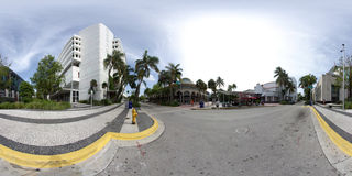Lincoln Road Spherical panorama Stock Photos