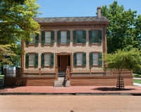 Lincoln's home. A picture of Abraham Lincolns Home Royalty Free Stock Photo