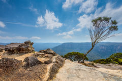 Lincoln's Rock in the Blue Mountains, NSW, Australia Stock Images