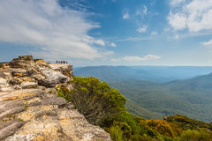 Lincoln's Rock in the Blue Mountains, NSW, Australia Stock Image