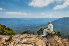 Lincoln's Rock near Wentworth Falls in the Blue Mountains, NSW, Royalty Free Stock Photo