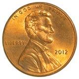 Lincoln Shield ett centmynt Arkivfoton