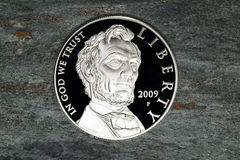 Lincoln Silver Dollar Coin Royalty Free Stock Images