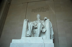 Lincoln statue. In the Lincoln Memorial, Washington, DC Photo taken on: april, 2009 royalty free stock image