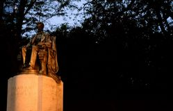 Lincoln Statue in Chicago stock foto's