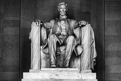 Lincoln statue at Memorial in Washington DC stock photography