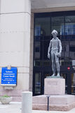 Lincoln statue in front of Indiana government center Stock Photography