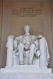 Lincoln Statue in Lincoln Memorial, Washington Stock Photos
