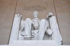 Lincoln Statue in Lincoln Memorial, Washington Stock Photo