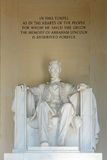 Lincoln Statue in Lincoln Memorial, Washington Royalty Free Stock Photography