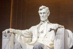 Lincoln statuy Pamiątkowy washington dc Zdjęcia Stock