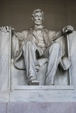 Lincoln staty på Lincoln Memorial, Washington DC, USA Royaltyfri Fotografi