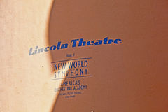 Lincoln Theatre is the home Stock Photo