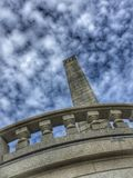 Lincoln Tomb Under Clouds Immagini Stock
