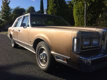 Lincoln Town Car 1981. Lincoln Town Car is an American six-seat full-size rear wheel drive luxury car with a frame chassis and a V8 engine, produced since 1981 royalty free stock images