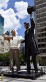 Lincoln und der moderne Mann Lizenzfreies Stockbild