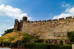 Lincoln, United Kingdom - 07/21/2018: Lincoln Castle wall during royalty free stock photography