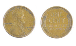 Lincoln Wheat Penny Royalty-vrije Stock Foto