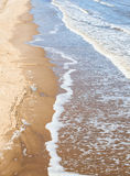 Lincolnshire beach. Beach and sea at skegness lincolnshire Stock Image