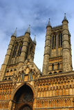Lincolnshire Cathedral. Front view of Lincolnshire cathedral, England royalty free stock images