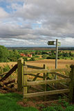 Lincolnshire Fens seen from a hill in the Wolds Royalty Free Stock Images