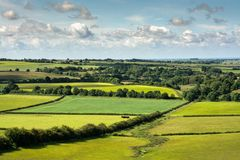 Lincolnshire wolds royalty-vrije stock fotografie