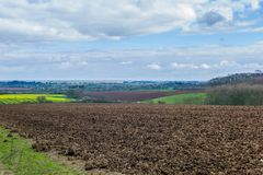 Lincolnshire Wolds. Fields and clouds in the Lincolnshire wolds Stock Photos