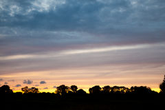 Lincolnshire wolds. The Lincolnshire wolds at sunset royalty free stock photos