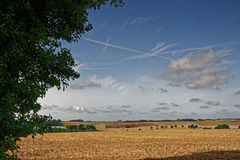 Lincolnshire Wolds,UK, in Late Summer Stock Images
