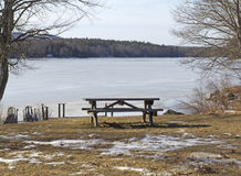 Lincolnville Bench Royalty Free Stock Photography