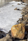 Lincolnville Ice Rocks Royalty Free Stock Photos