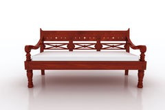Lind bench furniture. On white background Stock Image