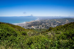 Linda Mar, Pacifica, Pacific Ocean, Mount Tamalpais as see from Royalty Free Stock Photos