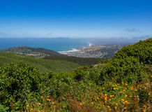 Linda Mar, Pacifica, Pazifischer Ozean, Berg Tamalpais wie sehen von stockbild