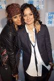 Linda Perry and Sara Gilbert Stock Image