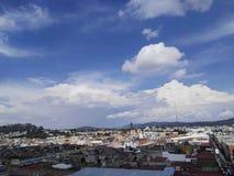 Linda vista desde la estrella de Puebla royalty free stock photo